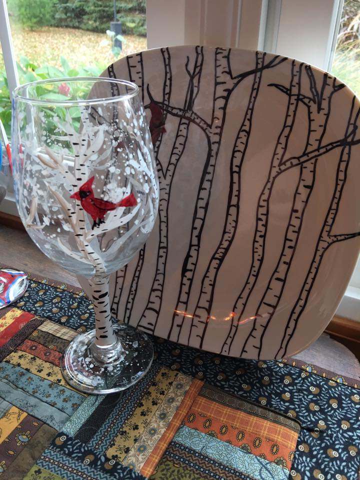 plate and glass or mug painting with betzi painting with betzi lievens